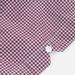 Fred Perry Classic Gingham SS Men's Shirt Mahogany photo- 4