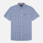 Мужская рубашка Fred Perry Classic SS Gingham Medieval Blue фото- 0