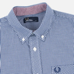 Мужская рубашка Fred Perry Classic SS Gingham Medieval Blue фото- 1
