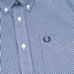 Мужская рубашка Fred Perry Classic SS Gingham Medieval Blue фото- 2