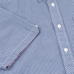 Мужская рубашка Fred Perry Classic SS Gingham Medieval Blue фото- 3