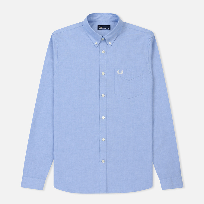 Мужская рубашка Fred Perry Classic Oxford Cotton Light Smoke