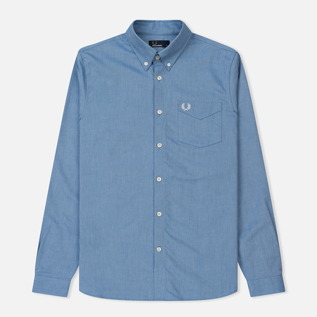 Мужская рубашка Fred Perry Classic Oxford Cotton Mid Blue