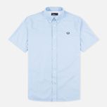 Мужская рубашка Fred Perry Classic Twill SS Clay Blue фото- 0