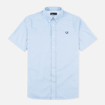Fred Perry Classic Twill SS Men's Shirt Clay Blue photo- 0