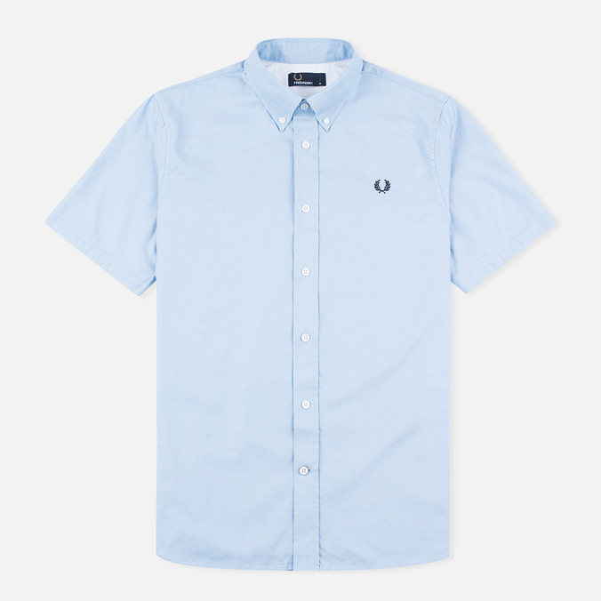 Fred Perry Classic Twill SS Men's Shirt Clay Blue