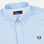Мужская рубашка Fred Perry Classic Twill SS Clay Blue фото- 1