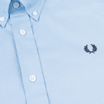 Fred Perry Classic Twill SS Men's Shirt Clay Blue photo- 2