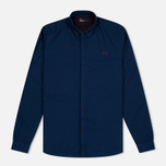 Мужская рубашка Fred Perry Concealed Placket Oxford French Navy фото- 0