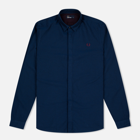 Fred Perry Concealed Placket Oxford Men's Shirt French Navy