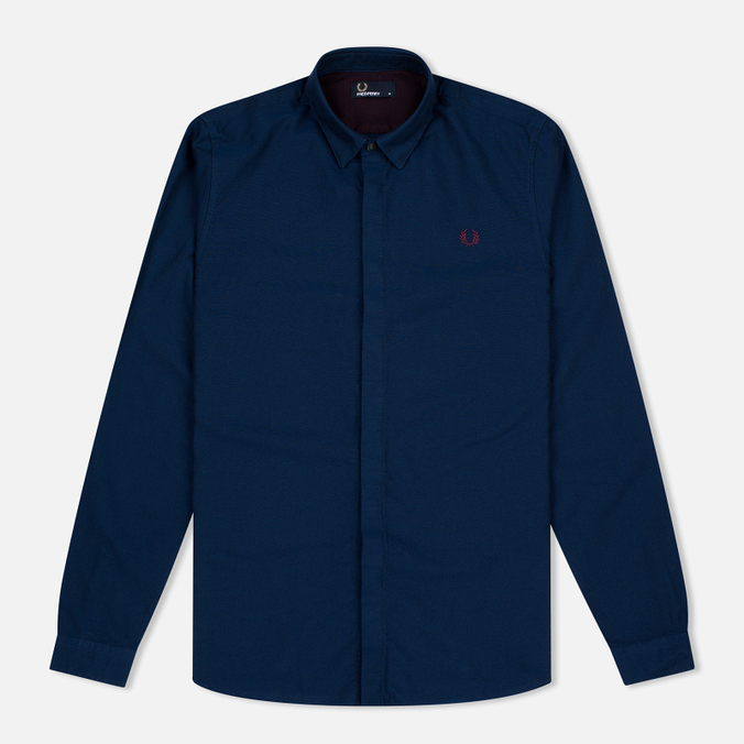 Мужская рубашка Fred Perry Concealed Placket Oxford French Navy