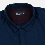 Мужская рубашка Fred Perry Concealed Placket Oxford French Navy фото- 1