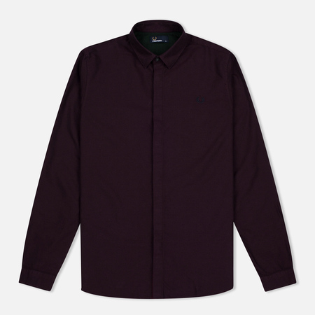 Fred Perry Concealed Placket Oxford Men's Shirt Mahogany