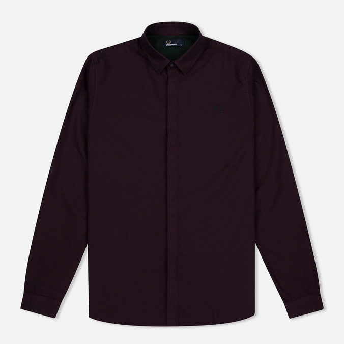 Мужская рубашка Fred Perry Concealed Placket Oxford Mahogany
