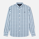 Мужская рубашка Fred Perry Herringbone Gingham Glacier фото- 0