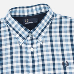 Мужская рубашка Fred Perry Herringbone Gingham Glacier фото- 1