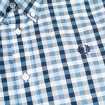 Мужская рубашка Fred Perry Herringbone Gingham Glacier фото- 2