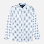 Мужская рубашка Fred Perry Polka Dot LS Light Smoke фото- 0