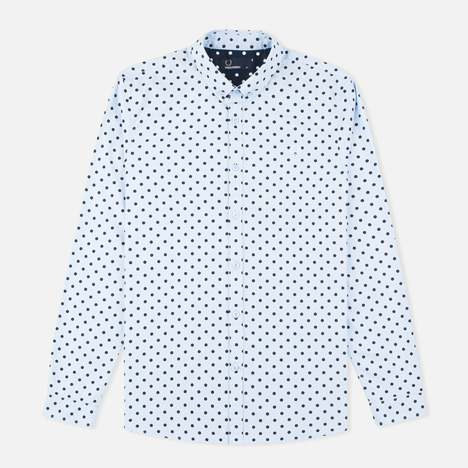 Мужская рубашка Fred Perry Polka Dot LS Light Smoke