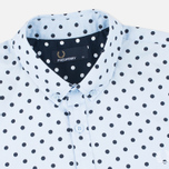 Мужская рубашка Fred Perry Polka Dot LS Light Smoke фото- 1
