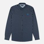 Мужская рубашка Fred Perry Polka Dot LS Navy фото- 0