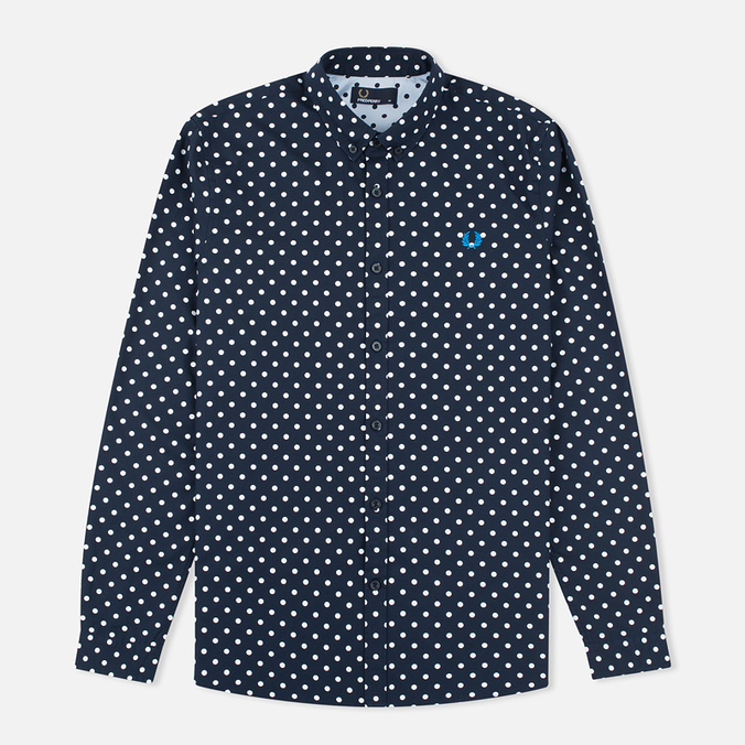 Мужская рубашка Fred Perry Polka Dot LS Navy