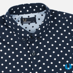 Мужская рубашка Fred Perry Polka Dot LS Navy фото- 1