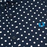 Мужская рубашка Fred Perry Polka Dot LS Navy фото- 2