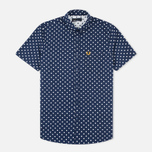 Fred Perry Polka Dot SS Men's Shirt Rich Navy photo- 0