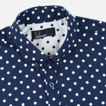 Fred Perry Polka Dot SS Men's Shirt Rich Navy photo- 1