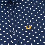 Fred Perry Polka Dot SS Men's Shirt Rich Navy photo- 2