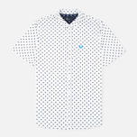 Мужская рубашка Fred Perry Polka Dot SS White фото- 0