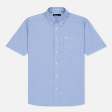 Мужская рубашка Fred Perry S/S Classic Oxford Light Smoke фото- 0
