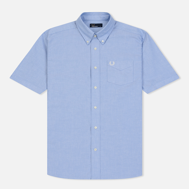 Мужская рубашка Fred Perry S/S Classic Oxford Light Smoke