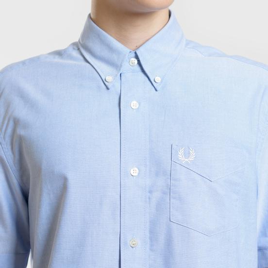 Мужская рубашка Fred Perry S/S Classic Oxford Light Smoke