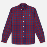Мужская рубашка Fred Perry Tartan Gingham Mix Red фото- 0