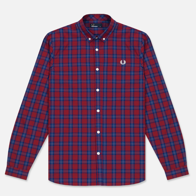 Мужская рубашка Fred Perry Tartan Gingham Mix Red