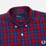 Мужская рубашка Fred Perry Tartan Gingham Mix Red фото- 1