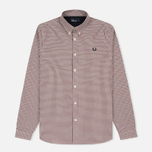 Мужская рубашка Fred Perry Three-Colour Basketweave Dark Carbon фото- 0