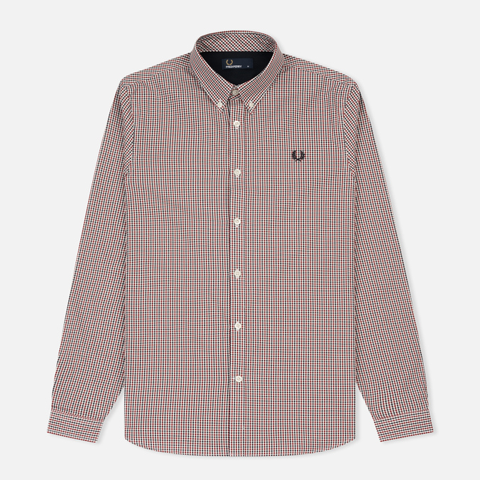 Мужская рубашка Fred Perry Three-Colour Basketweave Dark Carbon