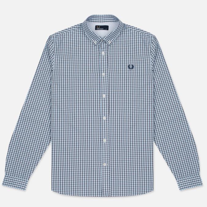 Мужская рубашка Fred Perry Three-Colour Basketweave Glacier
