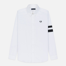 Мужская рубашка Fred Perry Tipped Sleeve White фото- 0
