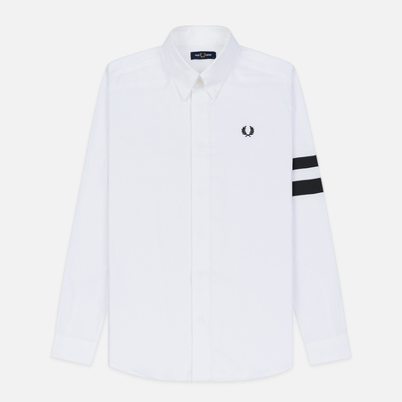 Мужская рубашка Fred Perry Tipped Sleeve White