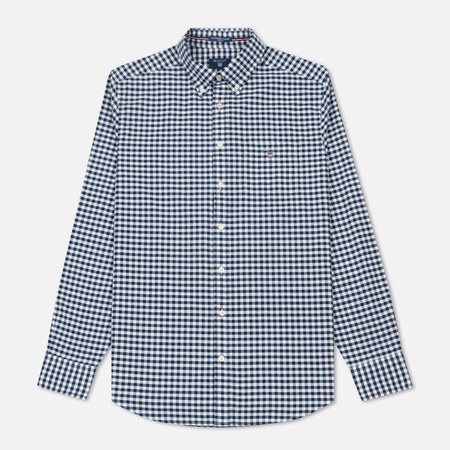 Мужская рубашка Gant Basic The Oxford Gingham Regular Fit BD Persian Blue