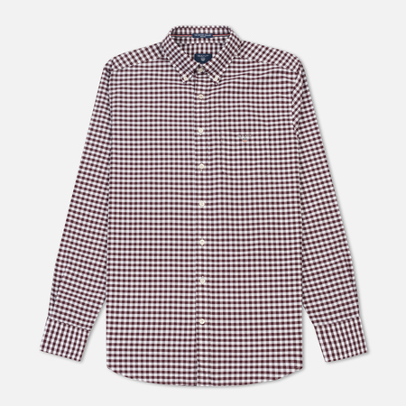 Мужская рубашка Gant Basic The Oxford Gingham Regular Fit BD Purple Wine