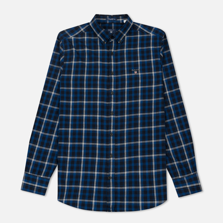 Мужская рубашка Gant Original Nordic Plaid Regular Fit BD Yale Blue