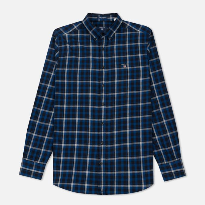 Мужская рубашка Gant Original Nordic Plaid Regular Fit BD Yale Blue