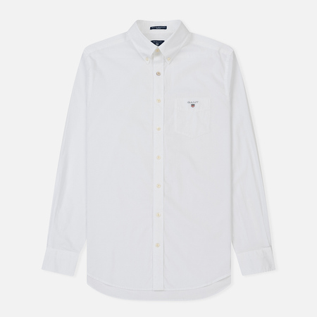 Мужская рубашка Gant Regular Broadcloth White