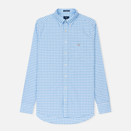 Мужская рубашка Gant The Oxford Gingham Regular Fit BD Capri Blue