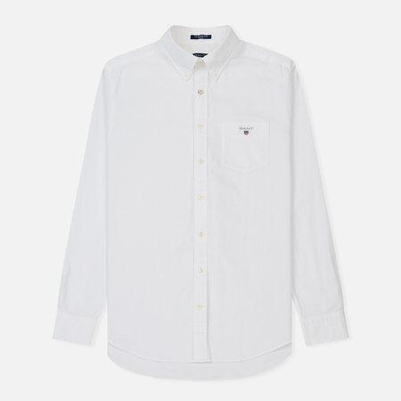 Мужская рубашка Gant The Oxford Regular Fit BD White